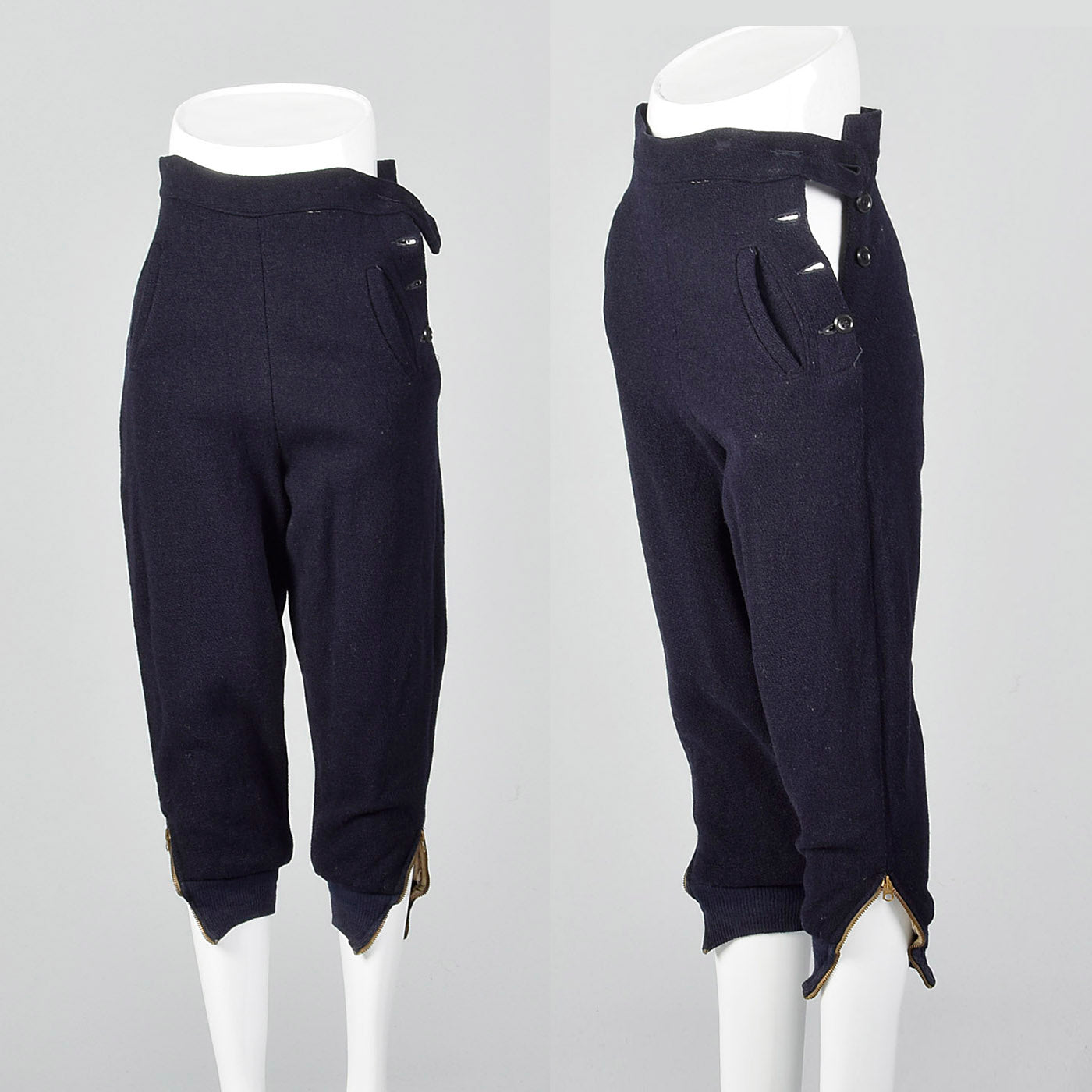 1940s Navy Wool Knickers