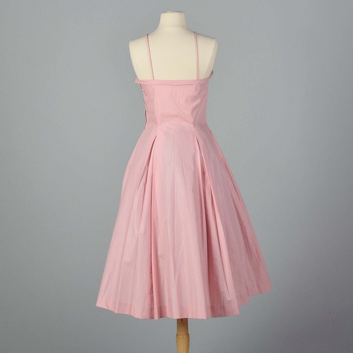 1950s Pink Party Dress with Full Skirt