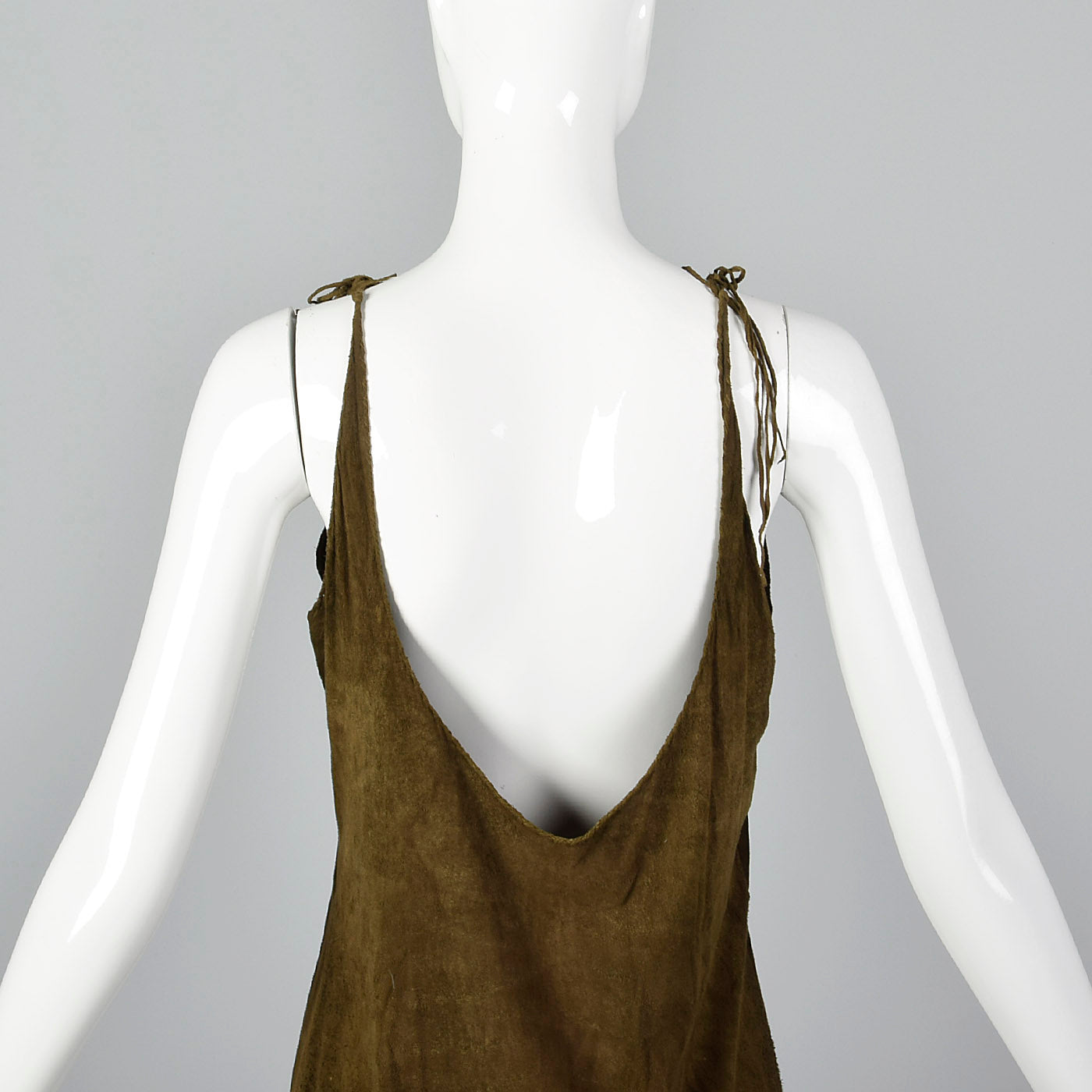 1970s Brown Suede Sheath Dress