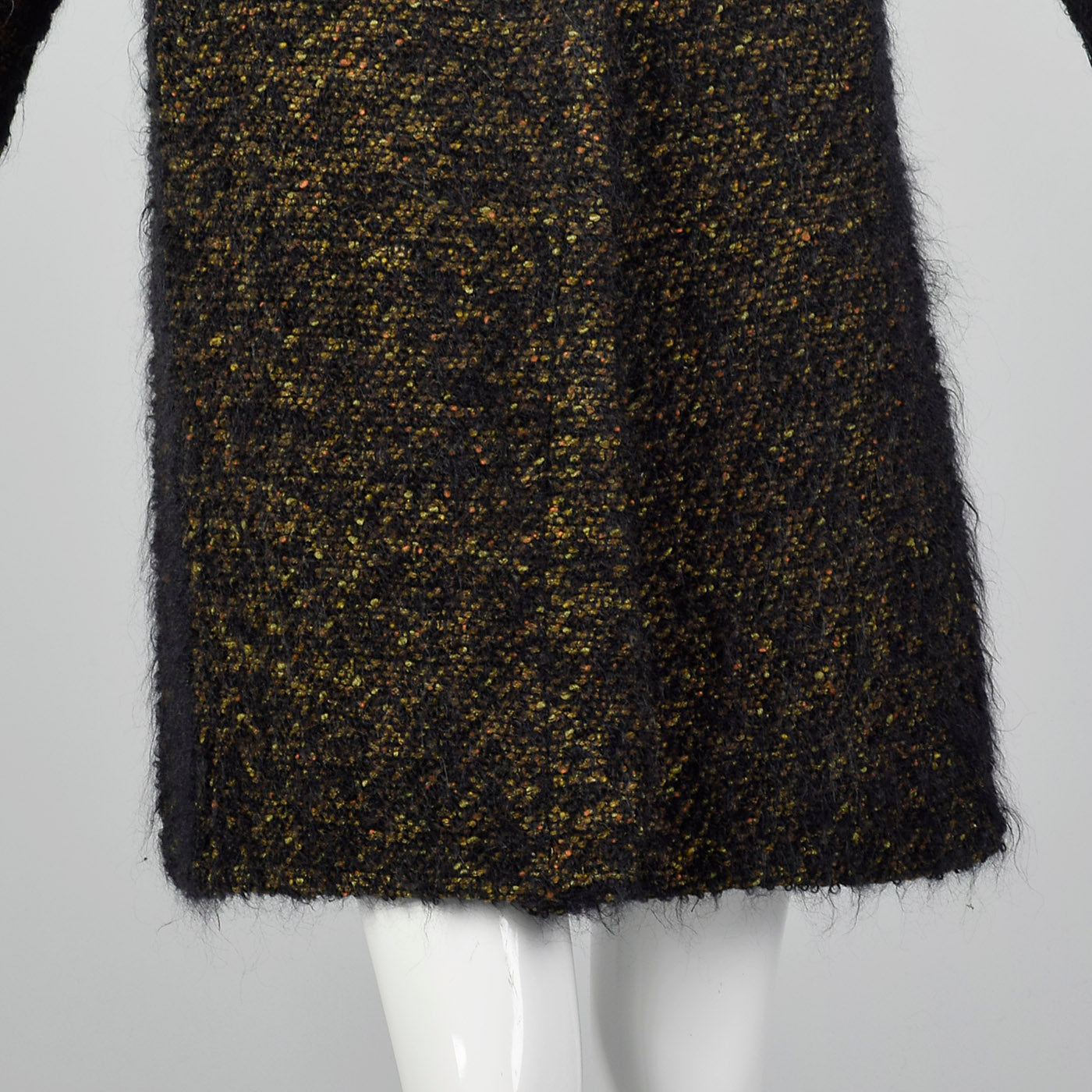 1960s Black Mohair Coat