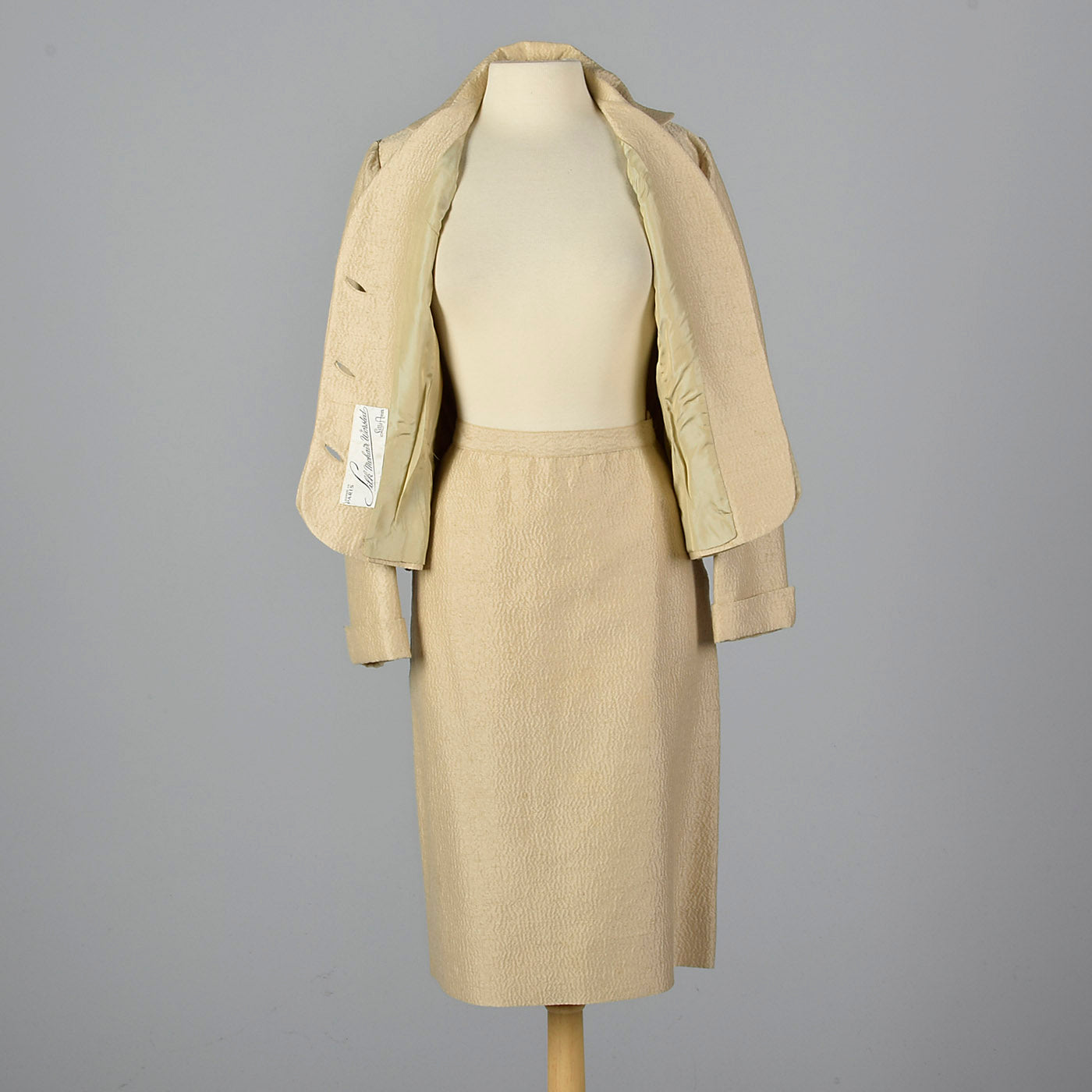 1950s Lilli Ann Silk and Mohair Skirt Suit