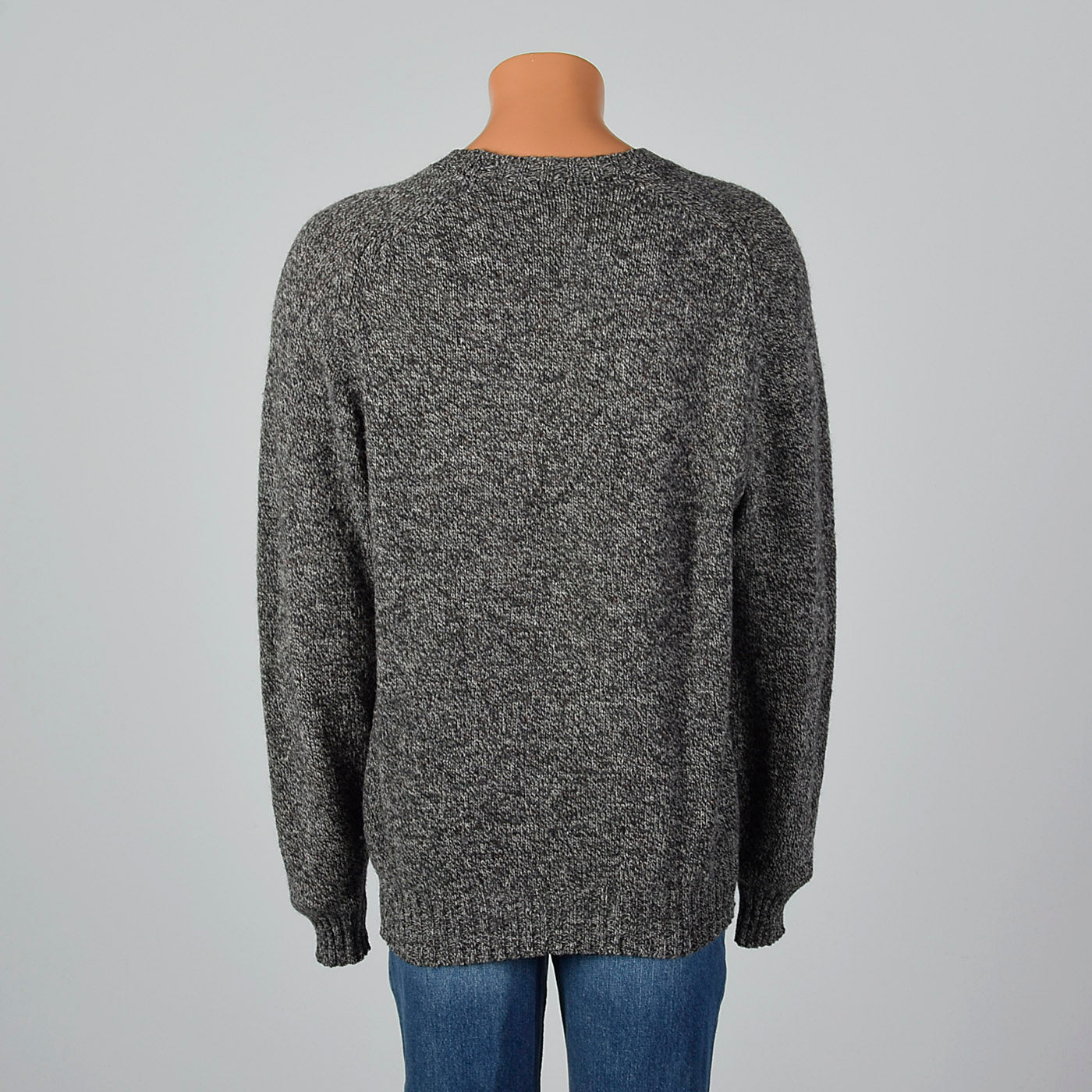 1980s Burberry Mens Gray Knit Sweater