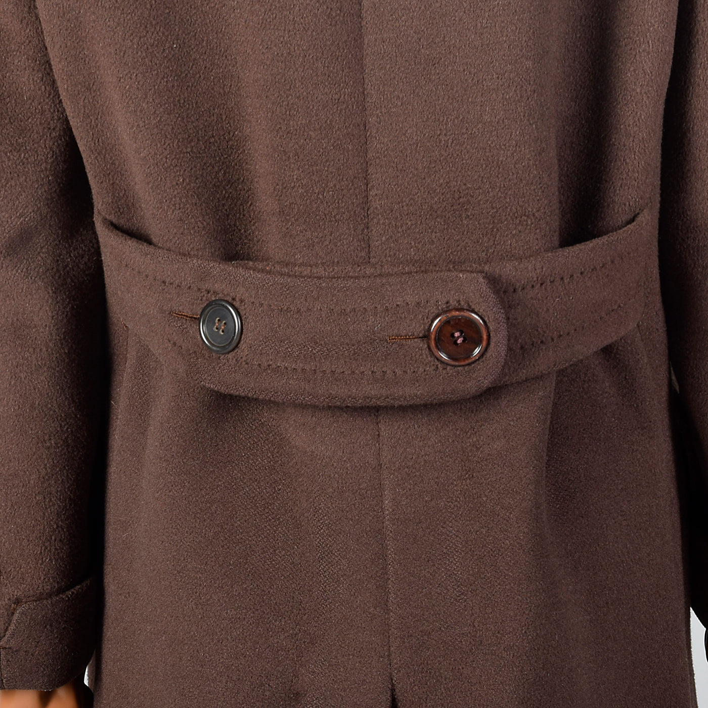 1940s Mens Marshall Field & Co Brown Overcoat