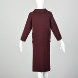 Large 1960s Dark Red Skirt Suit