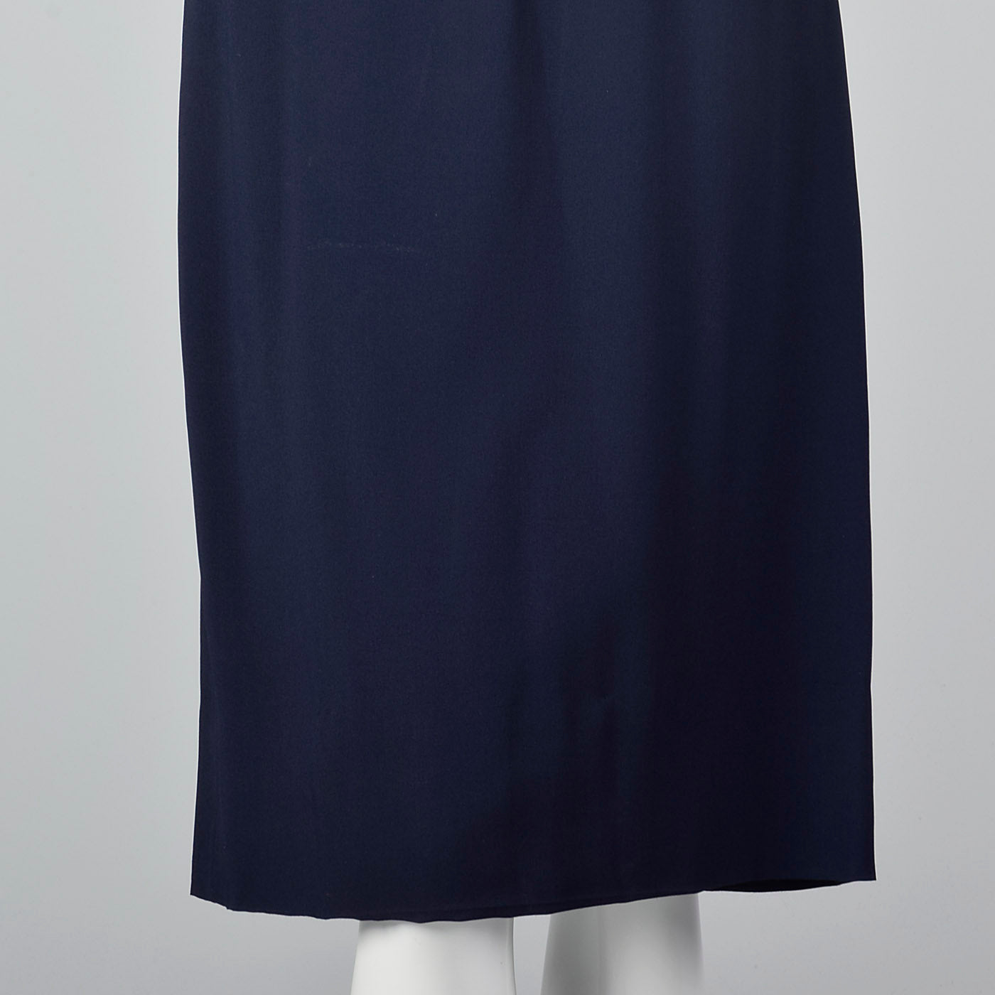 1950s Navy Blue Dress with Large Collar and Cuffs