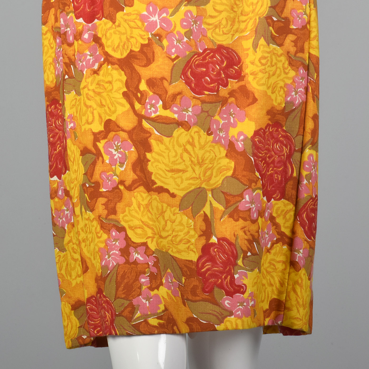 1960s Deadstock Shift Dress in a Vibrant Floral Print