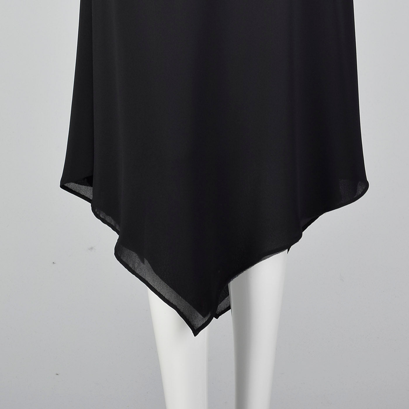 Pierre Cardin Boutique Black Slip Dress with Widow's Peak Hem