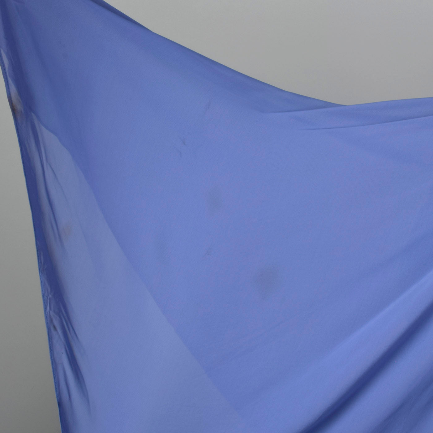 1950s Periwinkle Blue Chiffon Party Dress