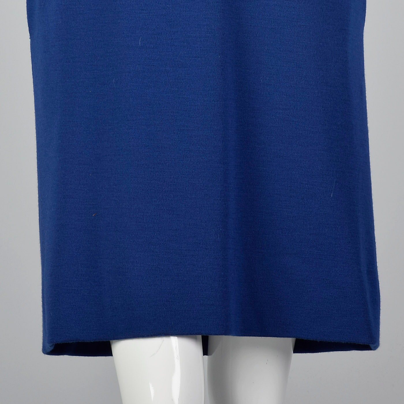 1980s Bill Blass Loose Blue Knit Dress