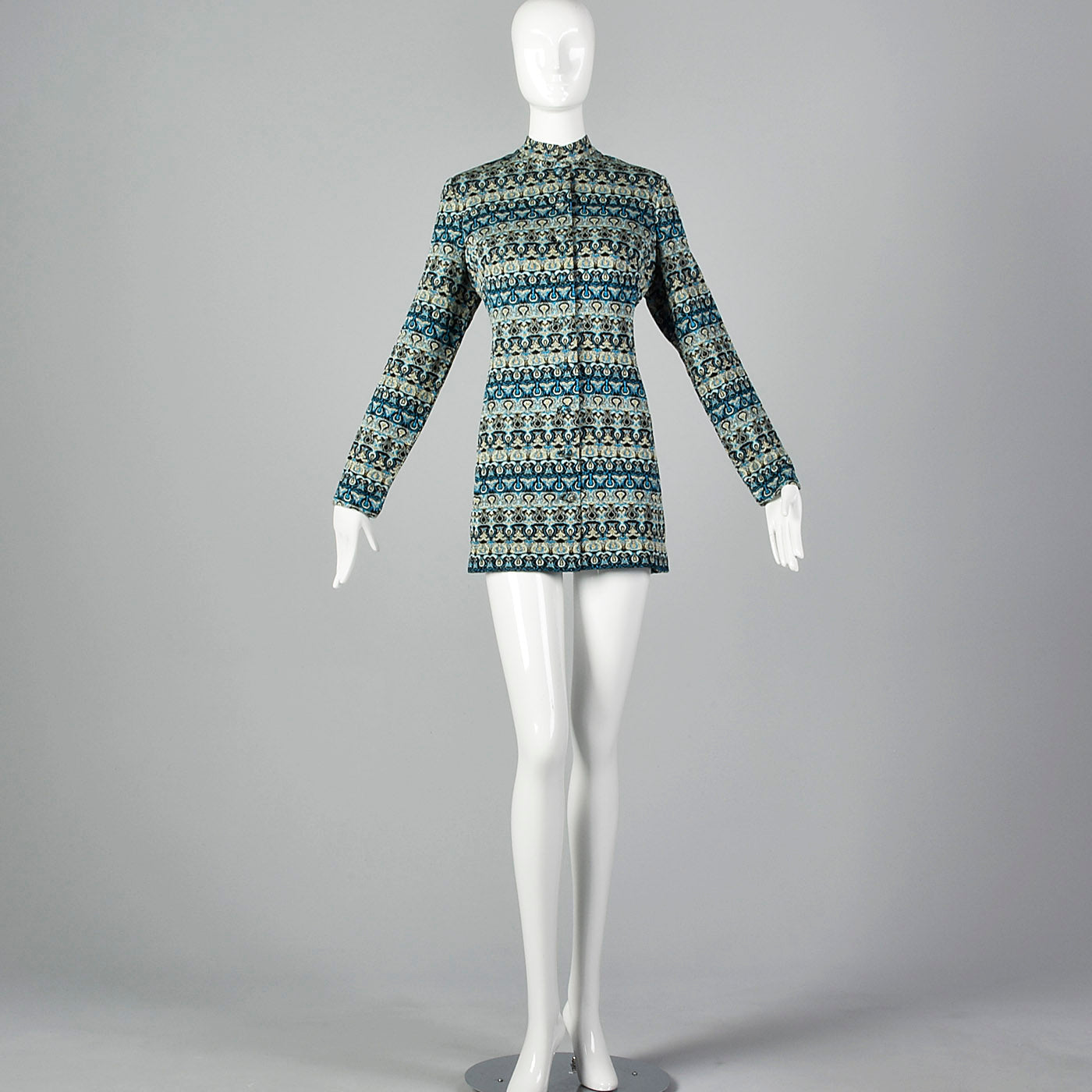 1970s Pierre Balmain Metallic Tunic Top