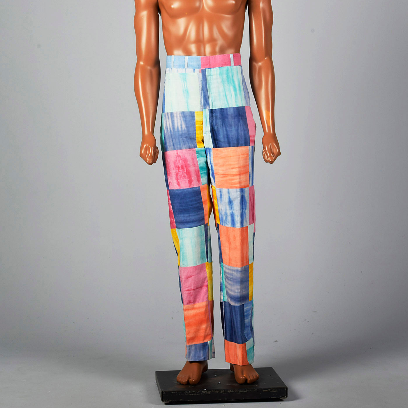 1970s Mens Patchwork Pants