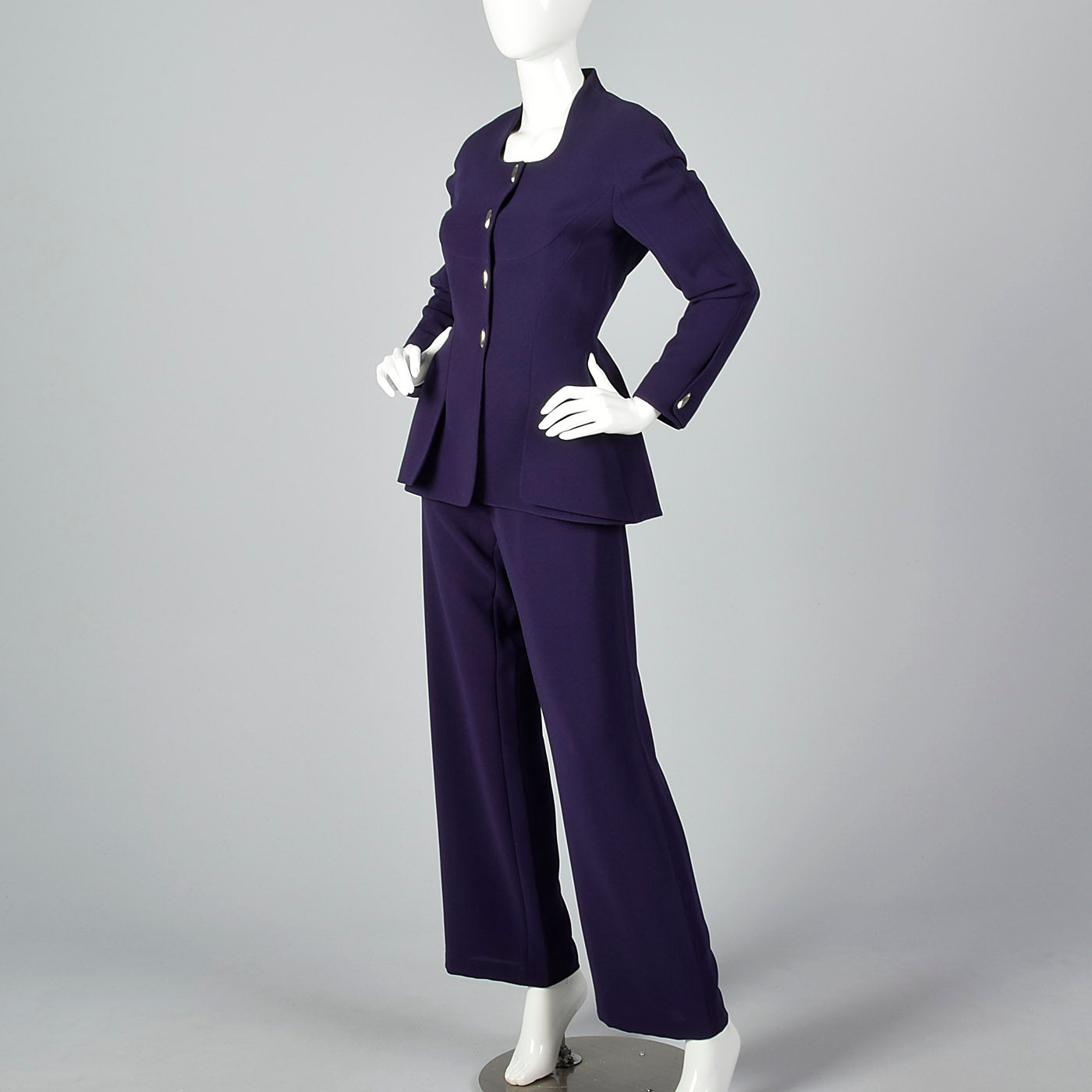 1980s Thierry Mugler Purple Pant Suit