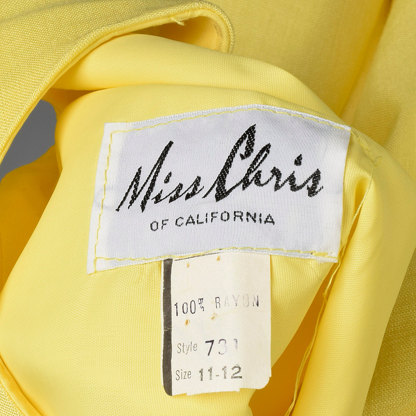 1960s Deadstock Yellow Dress with Mod Flowers