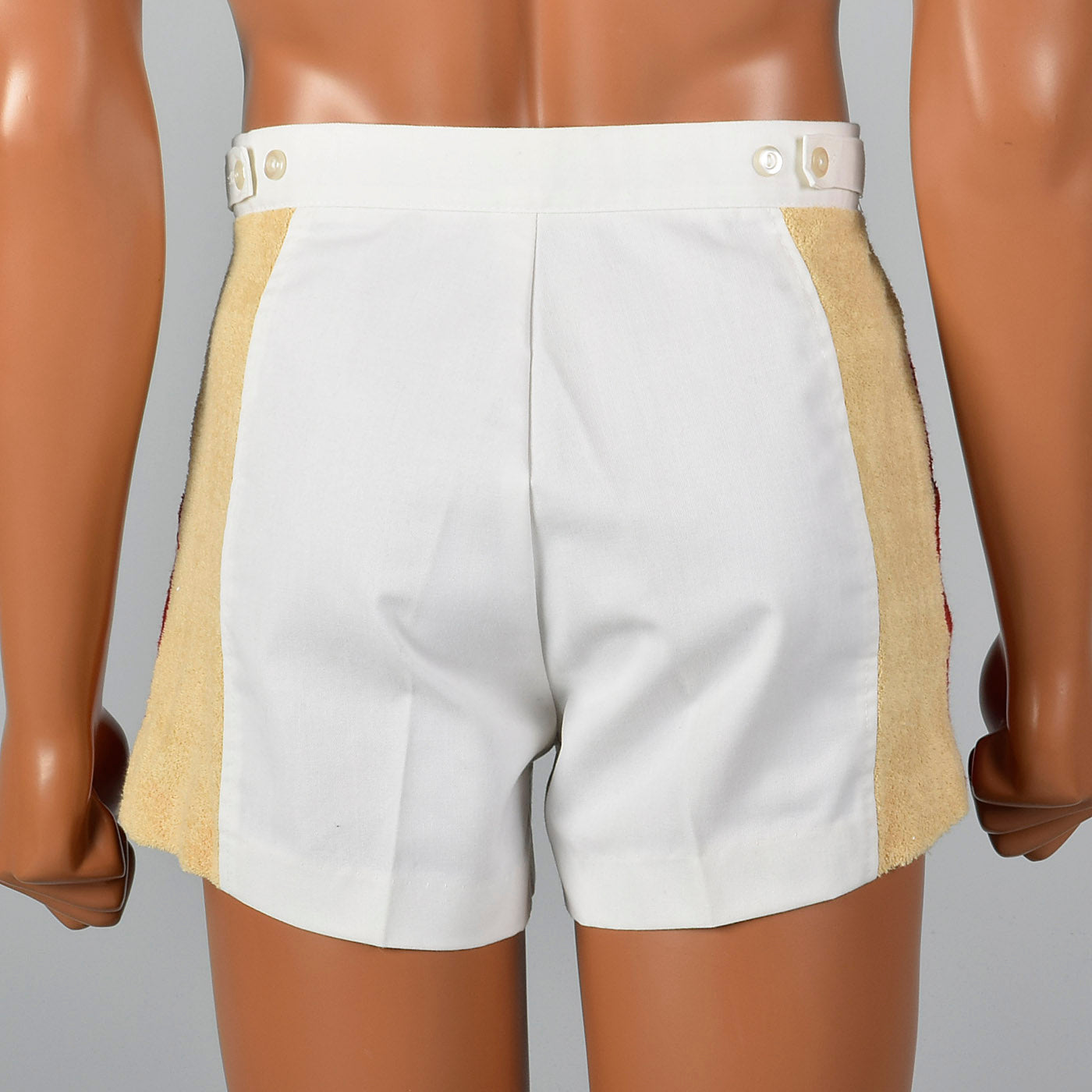1970s Mens Jockey Shorts with  Terry Cloth Panels