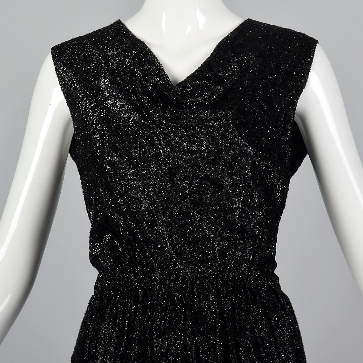 1960s Black Lurex Cocktail Dress from Marshall Field's 28 Shop