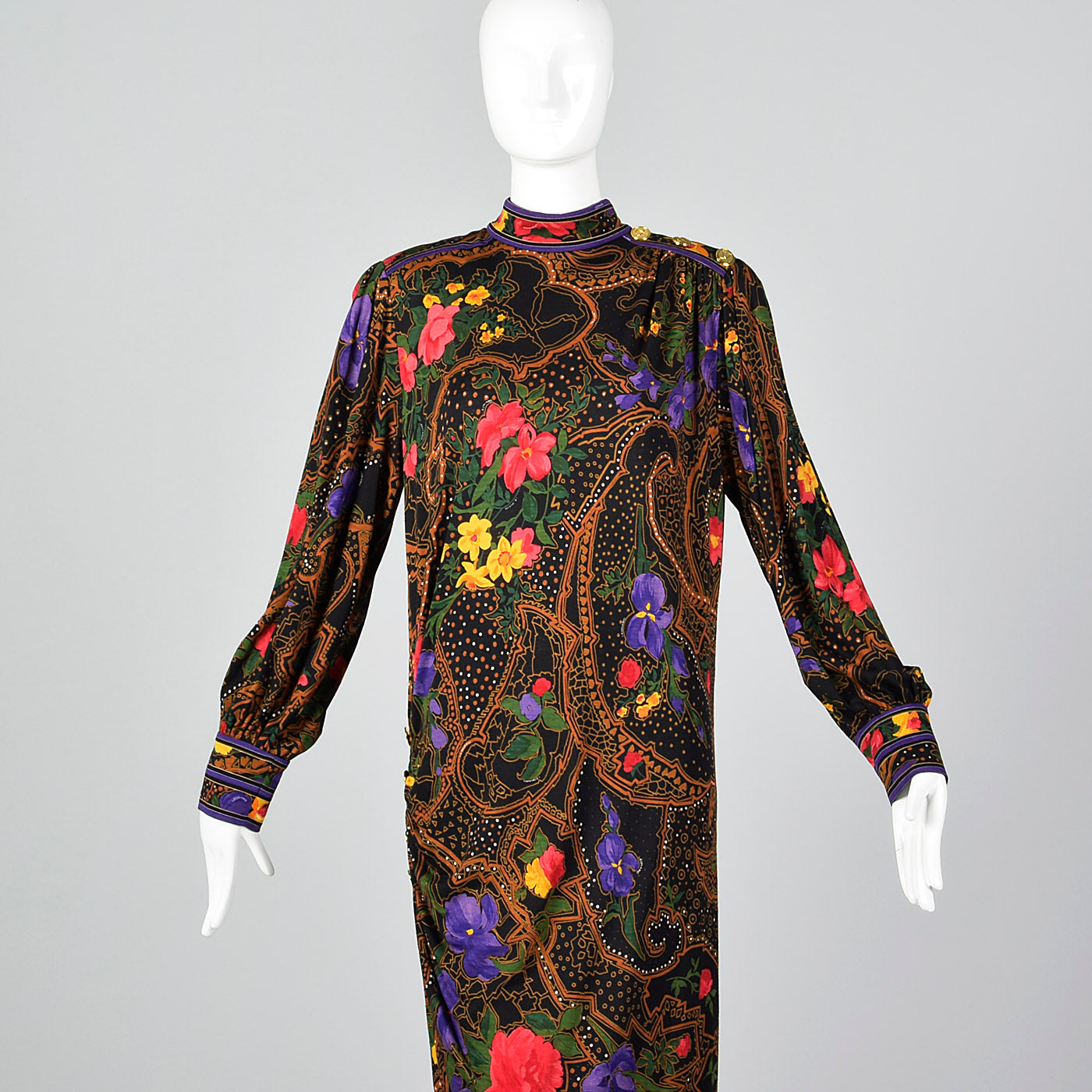 1970s Leonard Paris Loose Winter Wool Dress