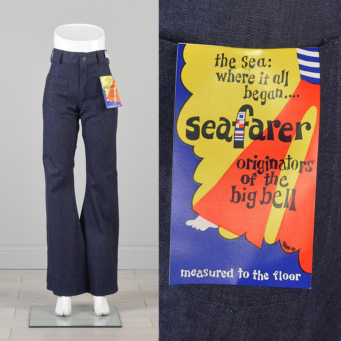 30x34.25 Deadstock Seafarer Jeans  High Waist Indigo Denim