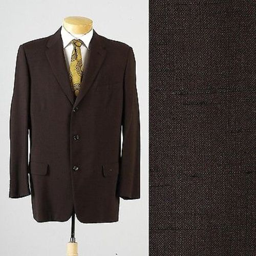 1950s Mens Brown Atomic Fleck Jacket