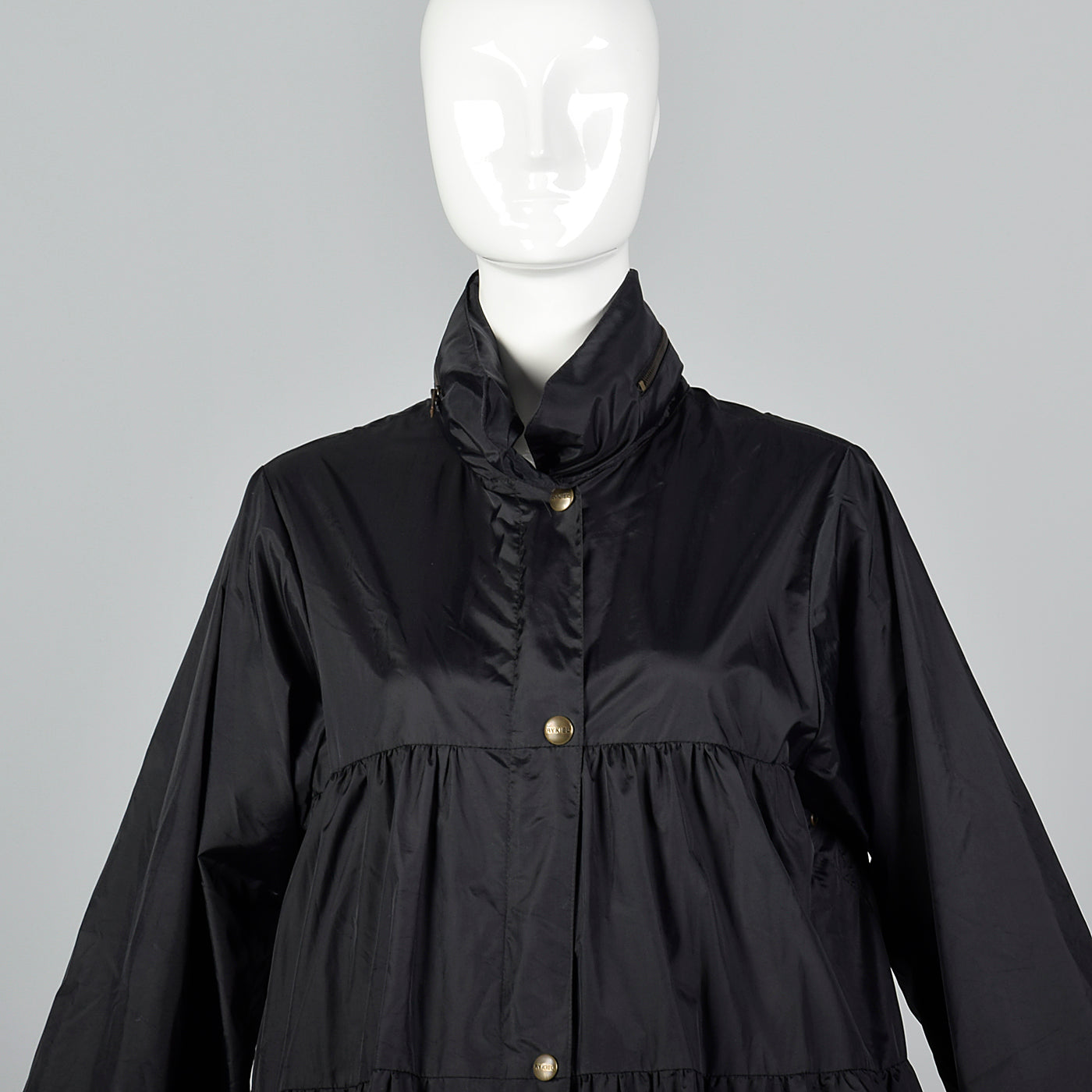 Sonia Rykiel Black Bubble Rain Coat