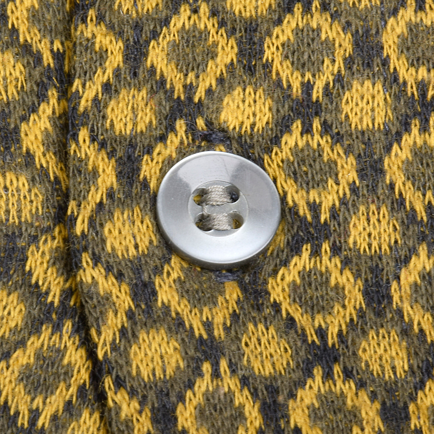 1950s Mens Deadstock Shirt in Gold and Gray Knit
