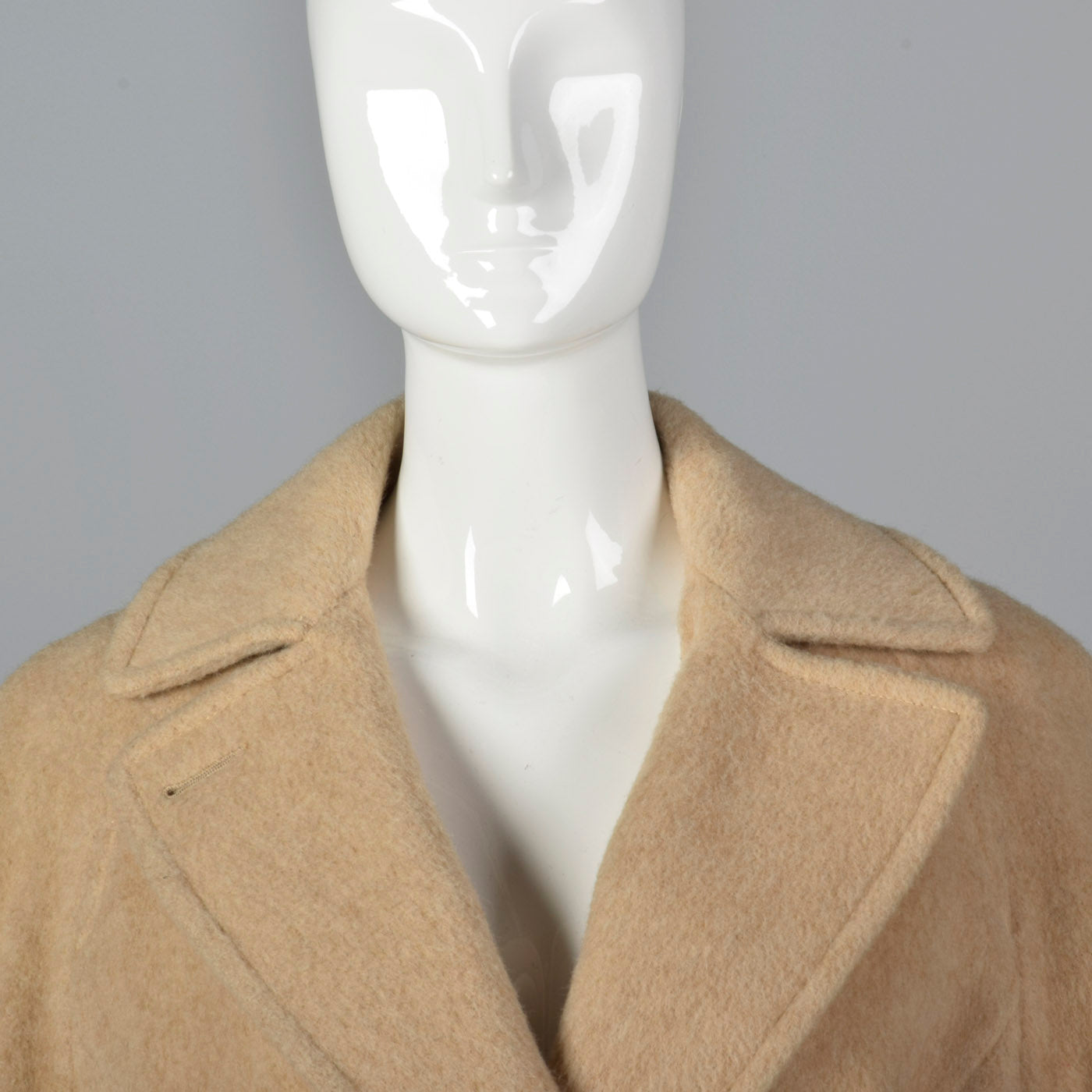 1970s Classic Wrap Coat in Tan Wool