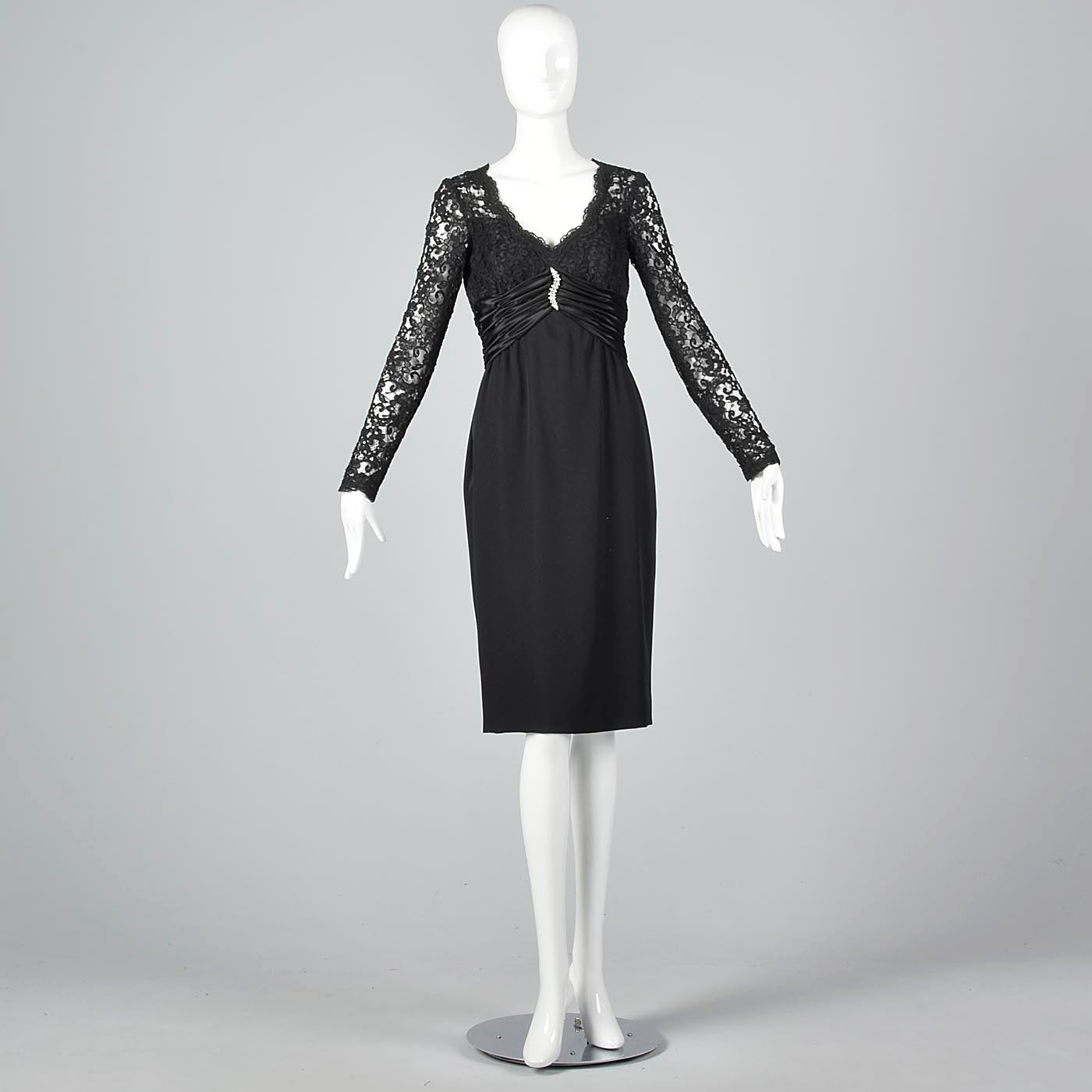 Pierre Balmain Little Black Dress with Lace Bodice