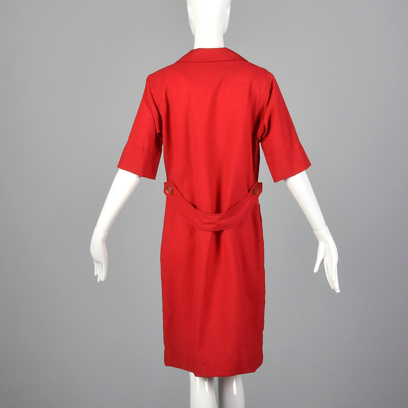 1960s Red Day Dress with Bird Embroidery