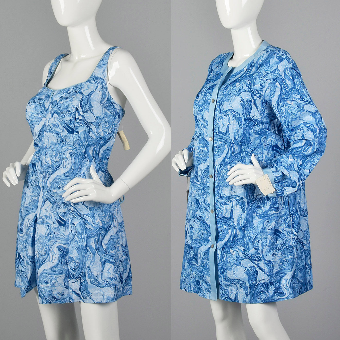 1960s Abercrombie & Fitch Deadstock Swim Romper & Cover-Up