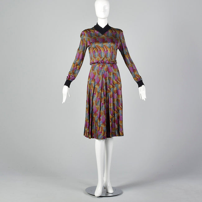 XS - S Missoni 1970s Silk Dress