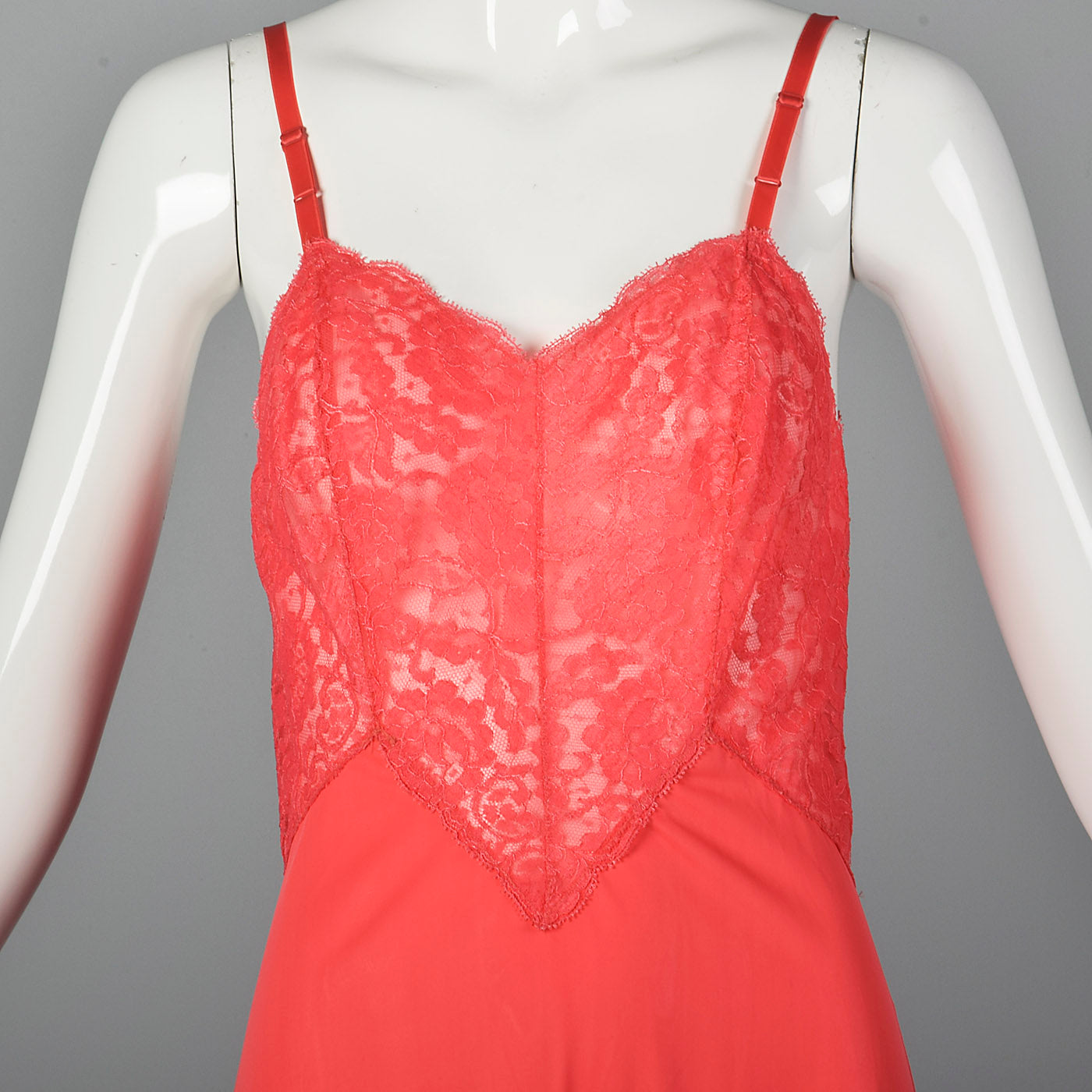 1960s Vanity Fair Bright Pink Slip