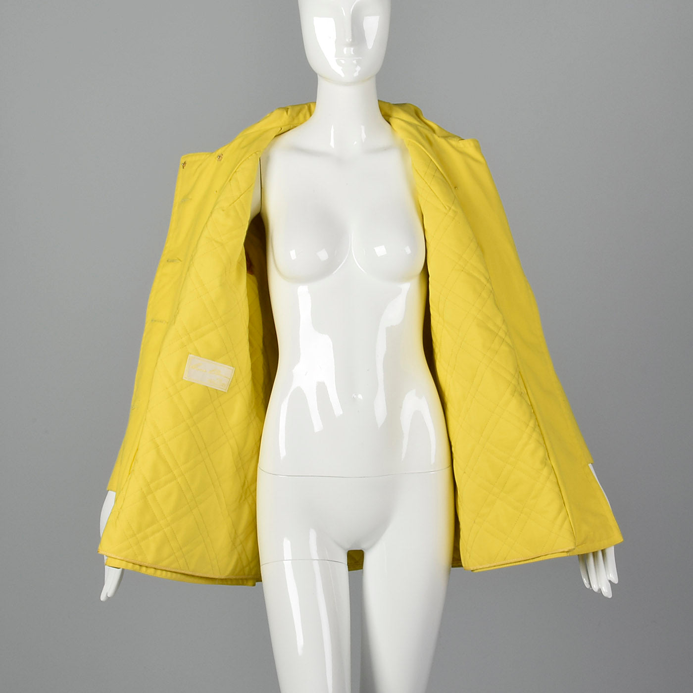 1960s Anne Klein Mod Yellow Trench Coat