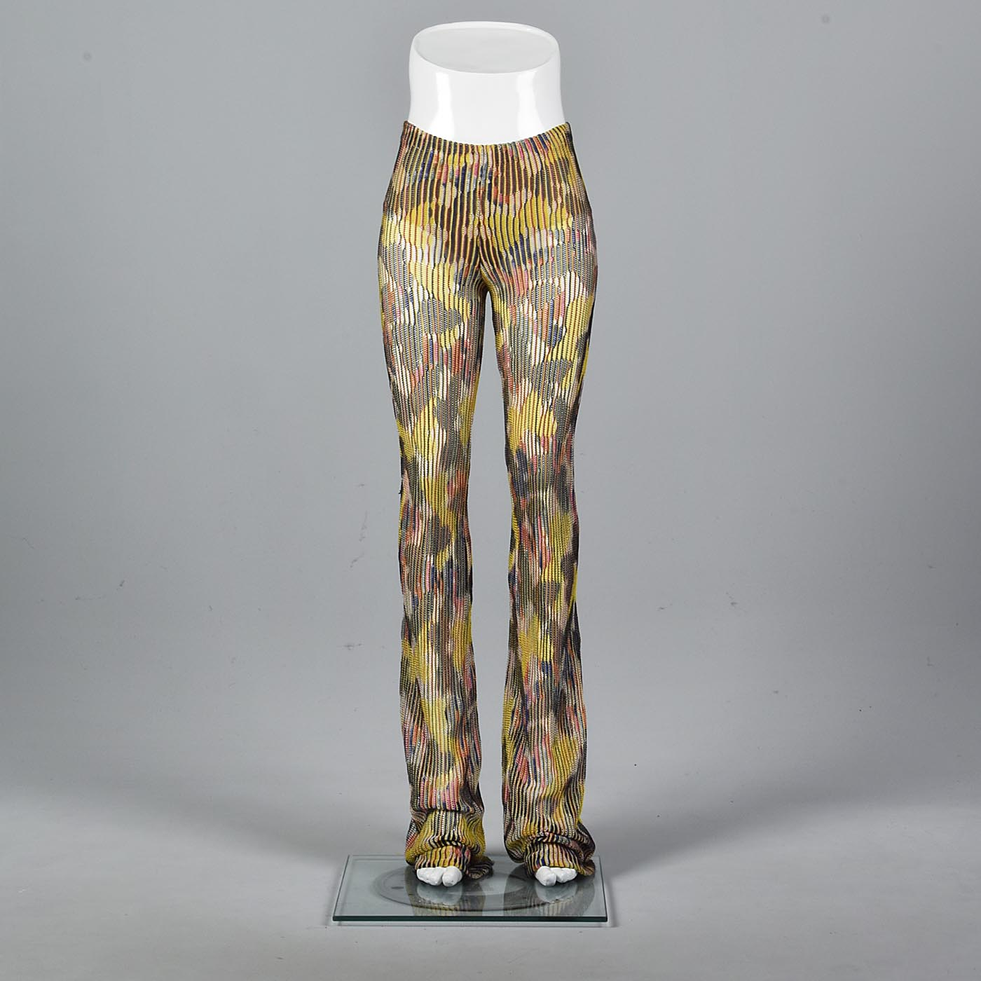 1970s Missoni Extra Long Sheer Knit Pants