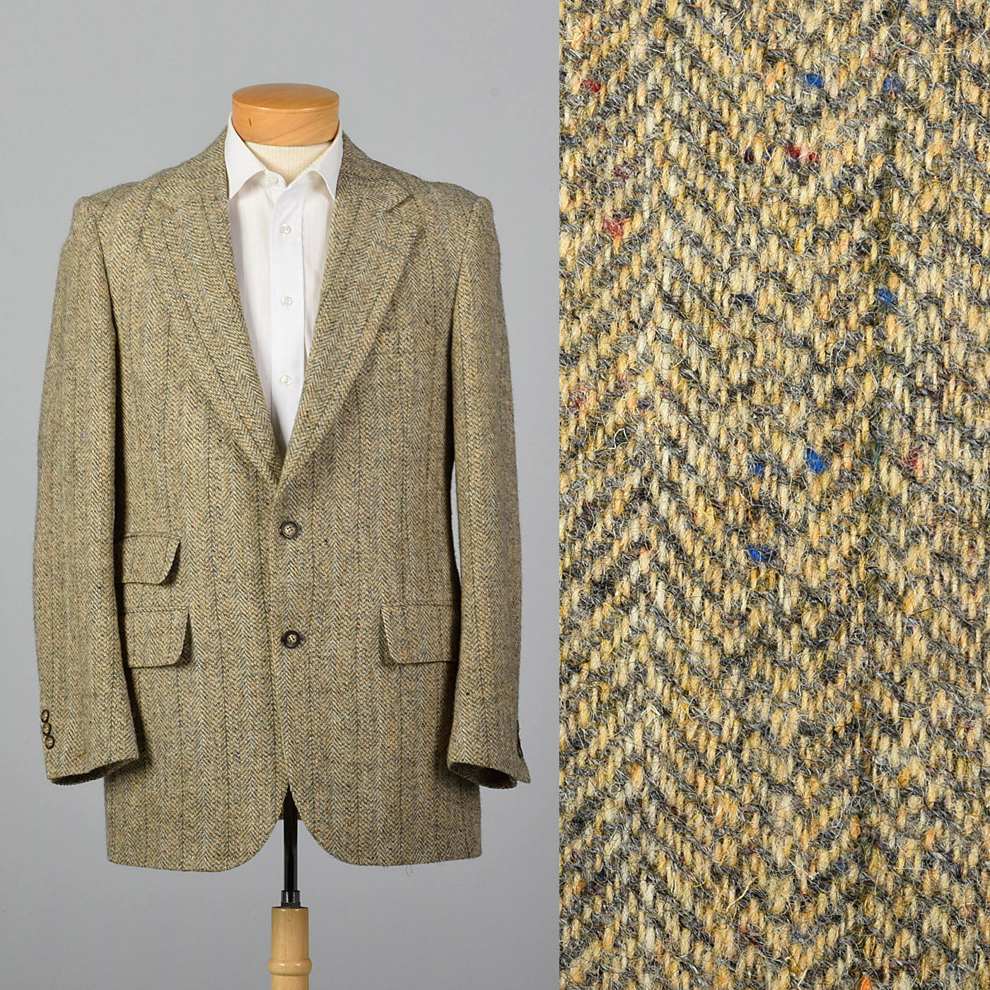 1970s Leonard Cox Tan Tweed Sportcoat