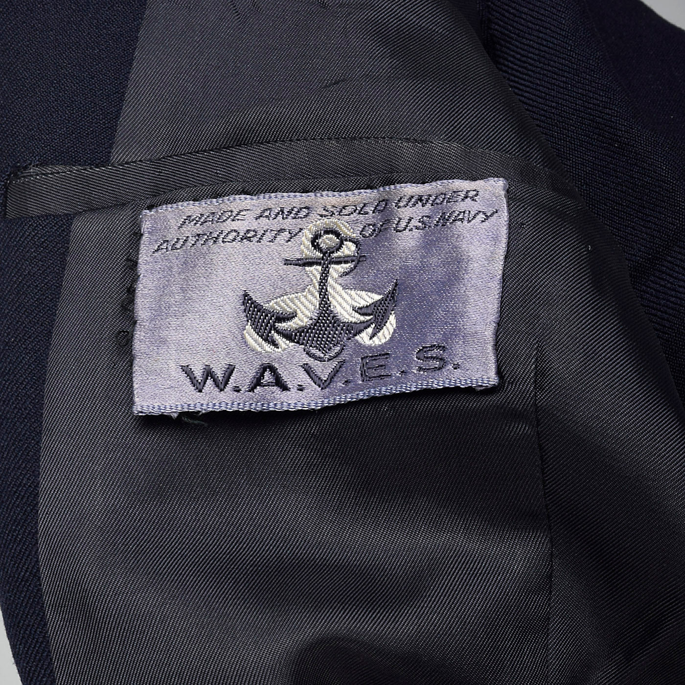 1950s Waves US Navy Military Wool Jacket in Navy Blue
