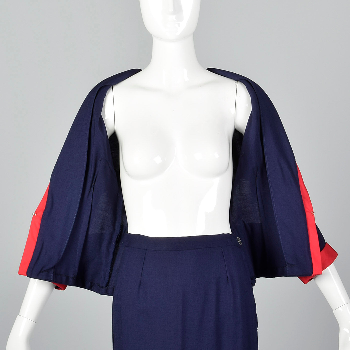 1950s Navy Sailor Style Skirt Suit