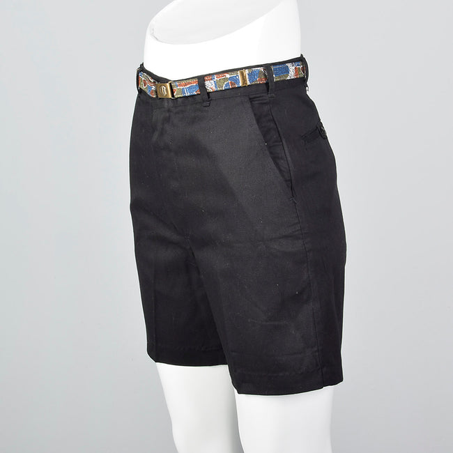 1950s Deadstock Black Bermuda Shorts