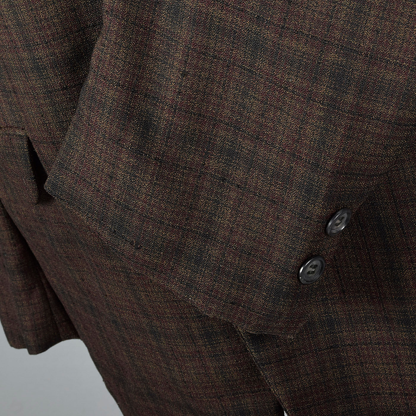 1950s Mens Lightweight Summer Jacket in Brown Plaid