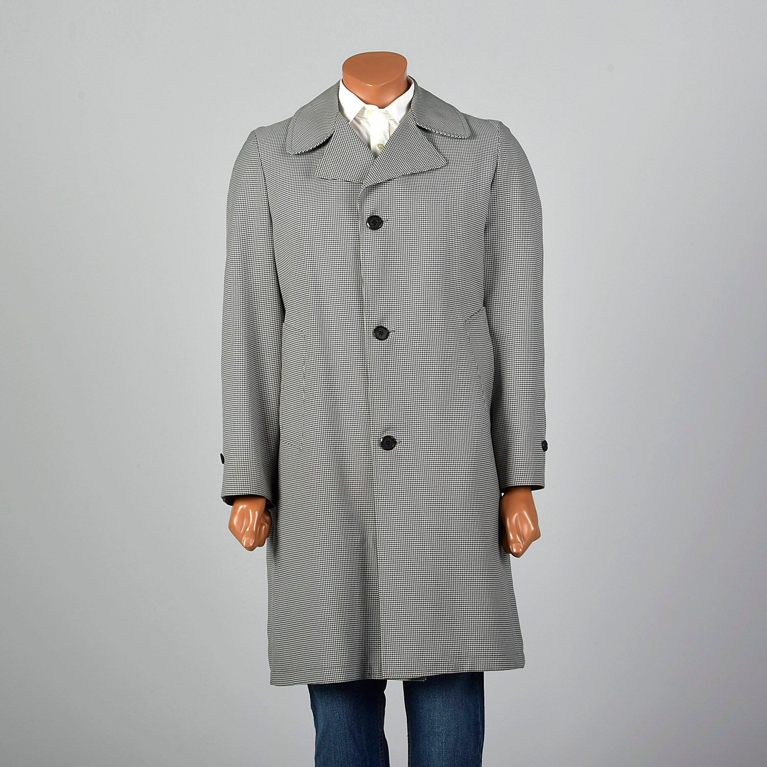 1970s Gray Year Round Overcoat