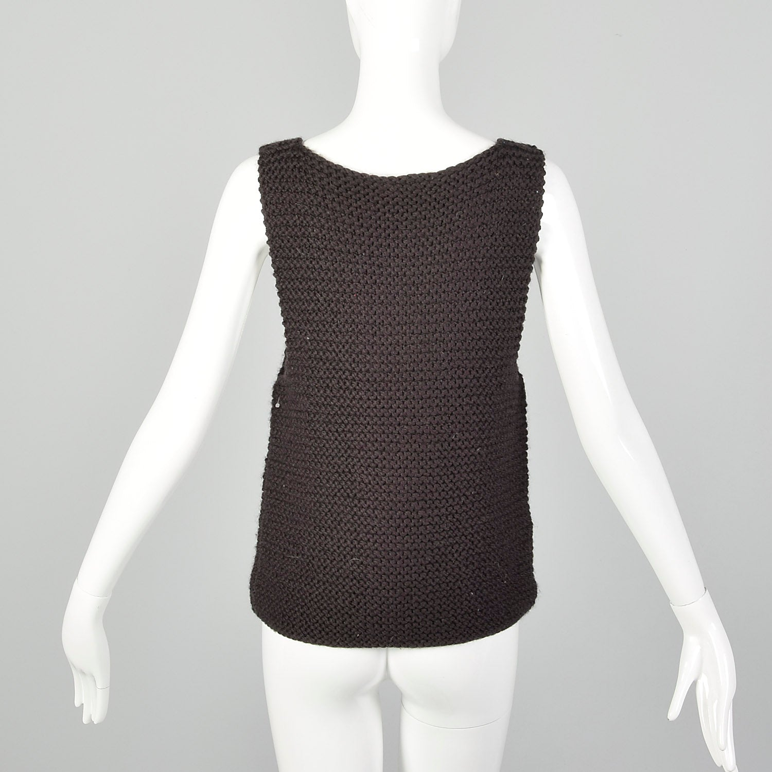 XS Fendi Brown Sweater Vest
