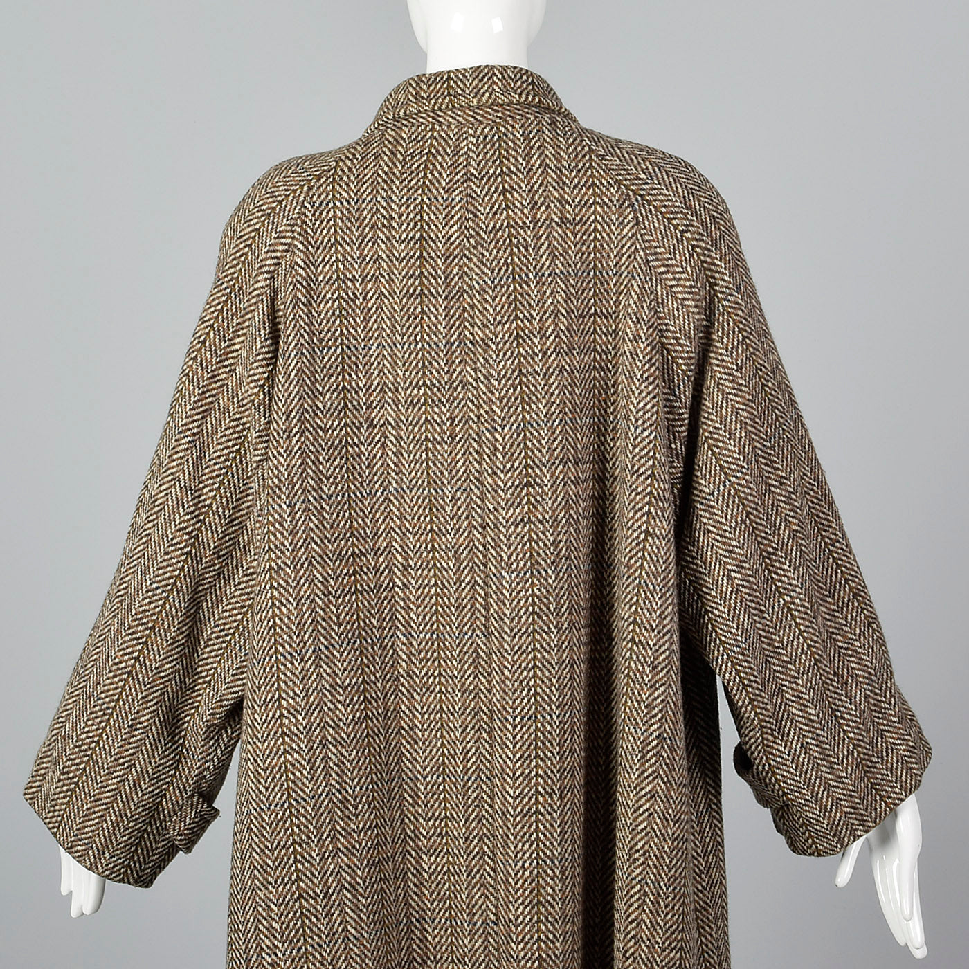 1980s Oversized Tweed Overcoat