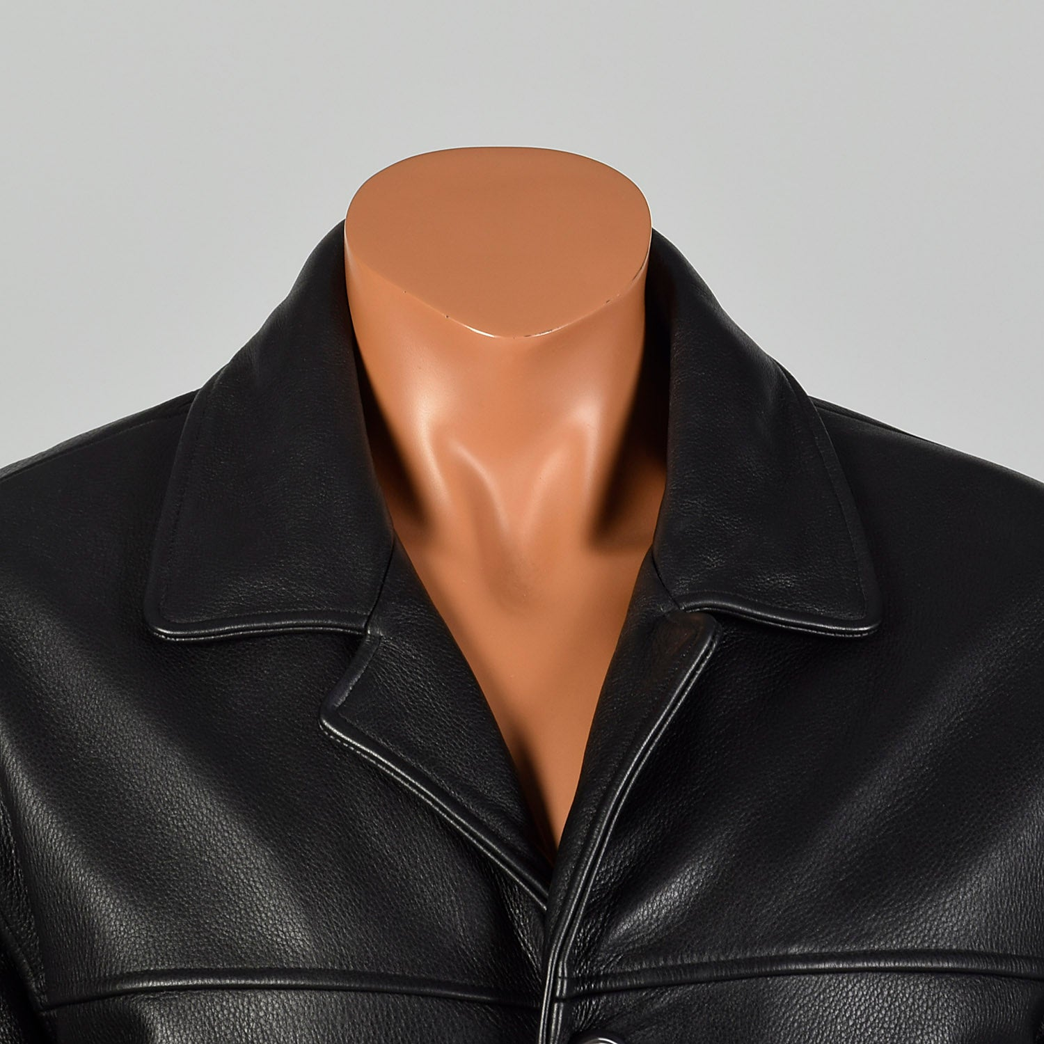 Large Guess Black Leather Jacket