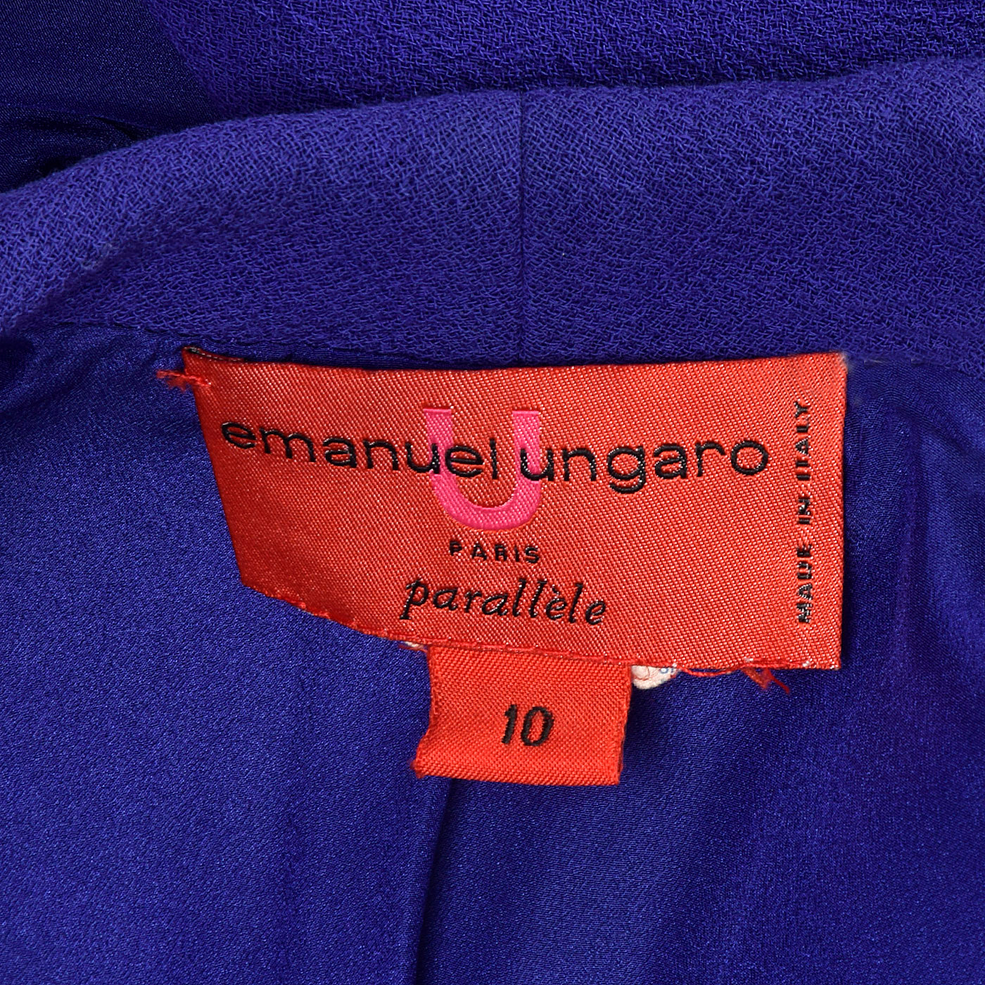 1990s Emanuel Ungaro Parallele Purple Skirt Suit