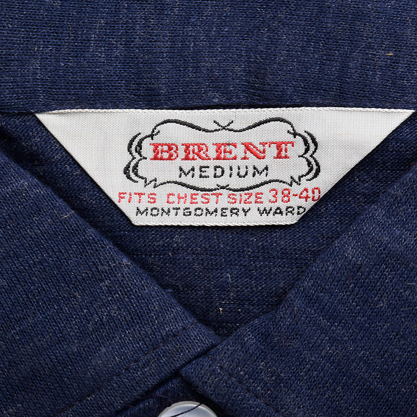 1950s Mens Deadstock Blue Knit Shirt