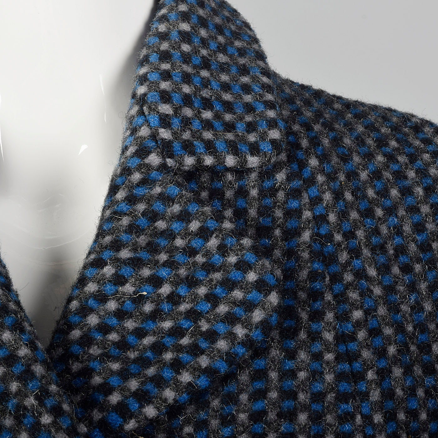 1950s Blue and Gray Tweed Jacket