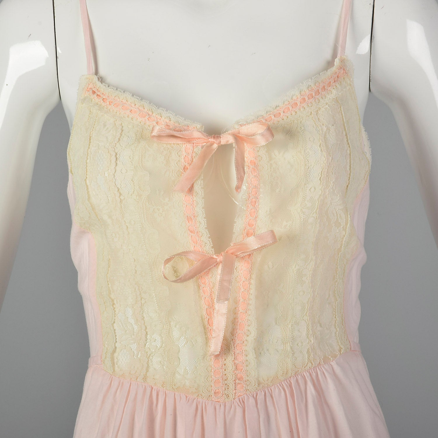 1970s Christian Dior Pink Nightgown