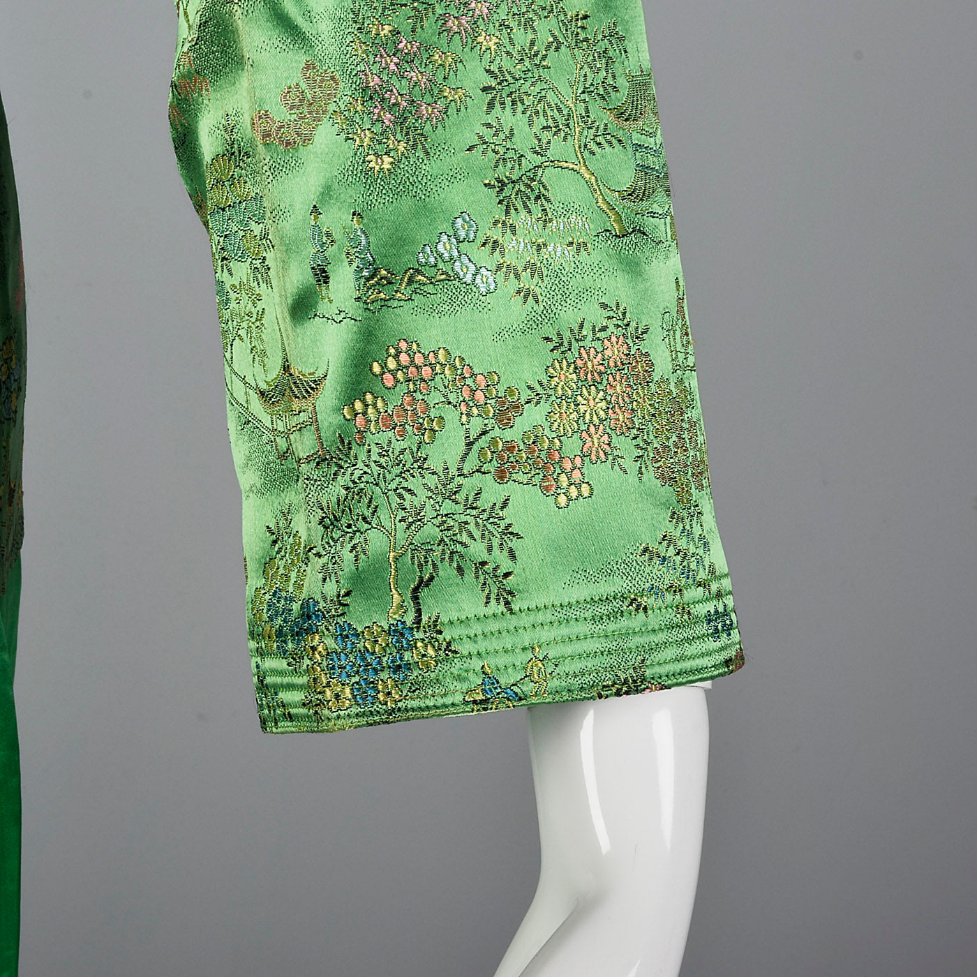 1960s Green Brocade Loungewear Set