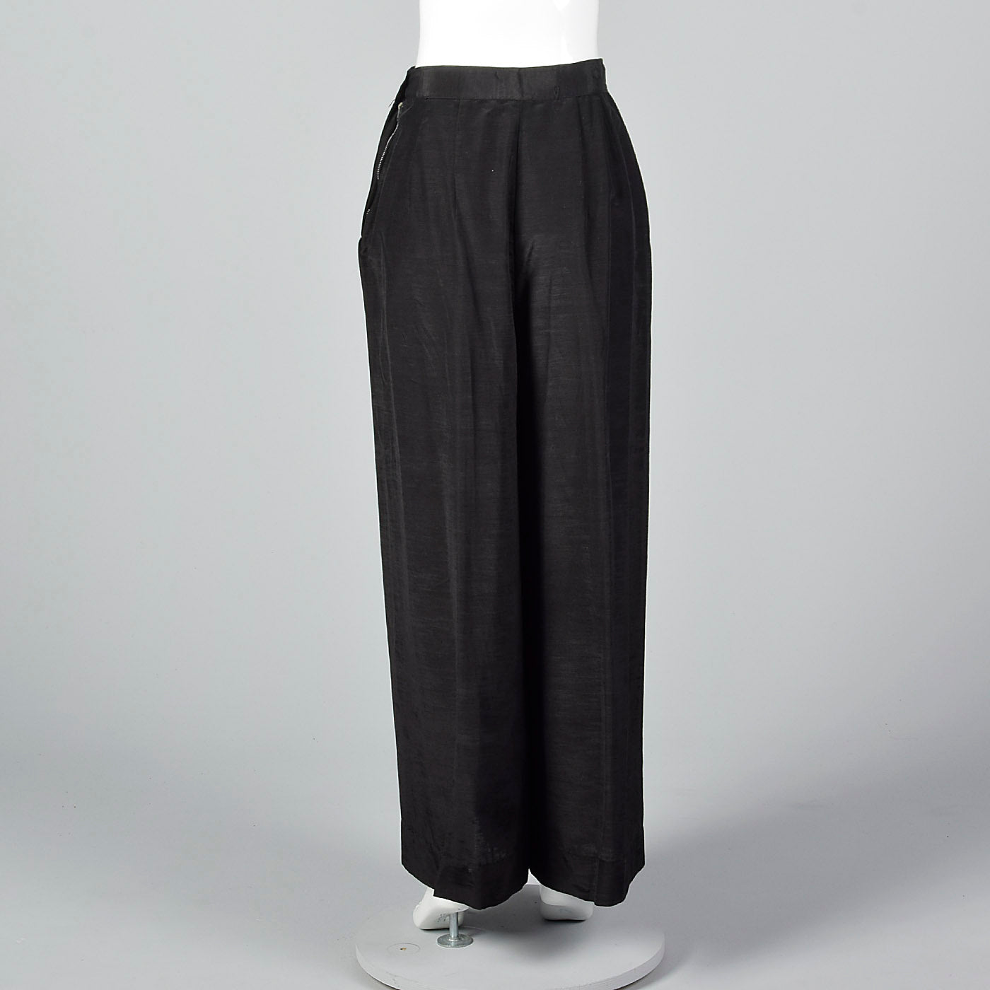 1930s Black Wide Leg Pants