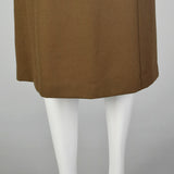 Small Givenchy 1980s Brown Wool Skirt