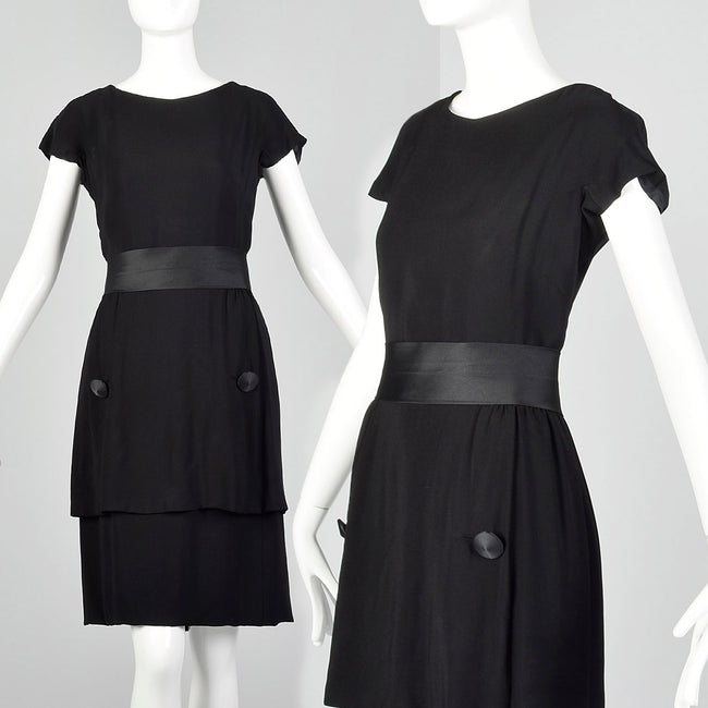Small 1960s Harvey Berin by Karen Stark Little Black Dress