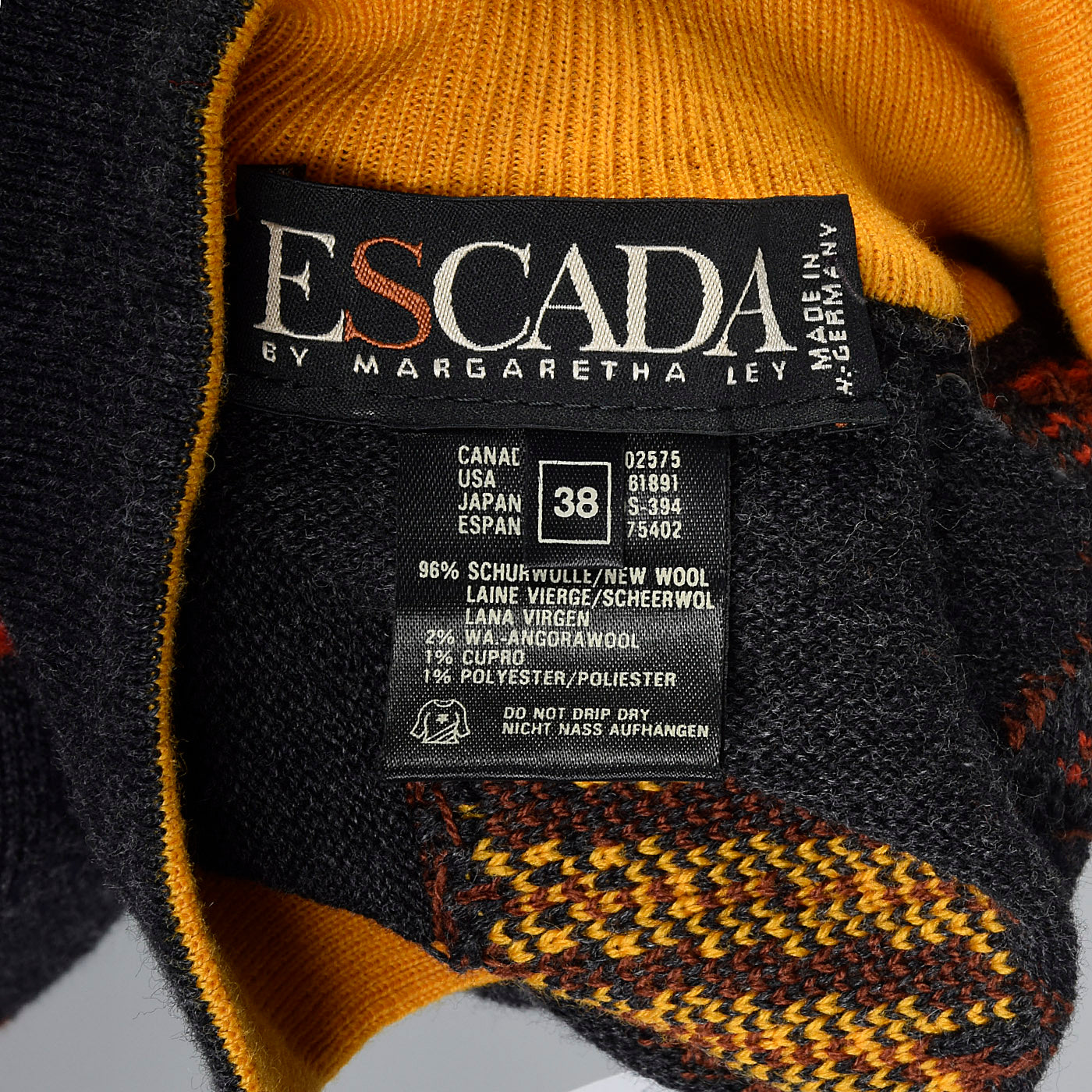1980s Escada Novelty Dog and Cat Friends Sweater
